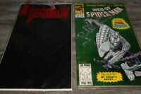 2 Comic Books Deathblow And Web Of Spiderman Giantb Sized 100 issue 193-1993