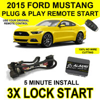 2015 Ford Mustang Remote Start Plug and Play Easy Install 3X Lock GT Push FO2