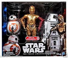 """STAR WARS THE FORCE AWAKENS 12"""" DROID 3 PACK C-3PO,BB-8,RO-4LO EXCLUSIVE FIGURE"""