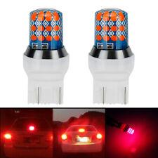 2x 7443 T20 LED Rear Tail Brake Stop Parking Light Bulbs Red High Power Bulbs