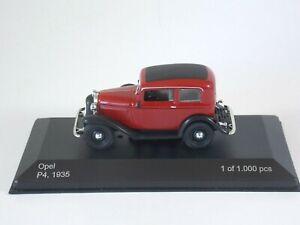 Opel P4 1935. 1:43 Scale. Whitebox Die Cast #WB151. Ltd Edition. MIB