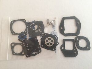 Poulan 4200 5200 5400 8510 Tillotson Kit - Plus Adapter, Carb and Reed Gaskets