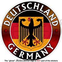 GERMANY DEUTSCHLAND Flag-Coat of Arms German Eagle, Deutsch Sticker, Decal 100mm
