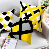 45cm Yellow Geometric Pillow Case Sofa Car Waist Throw Cushion Cover Home Decor