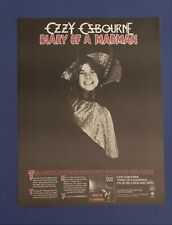 "1981 Large Ozzy Ozbourne ""Madman"" Lp Trade Promo Ad ~Nm Cond"