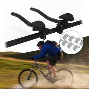 Triathlon Aero Bicycle Bike Tri Bars Relaxlation Handlebars Alloy Arm Rest UK