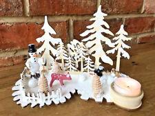 Nouveau Vintage Noël Hiver snowscene Décoration Tea Light Candle Holder