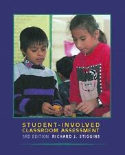 Student-Involved Classroom Assessment by Richard J. Stiggins (2000, Paperback)