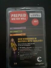 Congstar Prepaid SIM Karte inkl. 10€ Guthaben Seltene 0171 Vorwahl 7-Stellig OVP