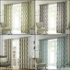 WOODLAND Trees FULLY LINED EYELET Ring Top Ready Made Curtains PAIR *NEW COLOUR*