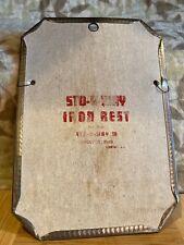 """Vintage STO-A-WAY Iron Rest Sto-A-Way Co. AURORA ILLINOIS 10"""" X 7"""""""