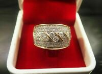 14K Yellow Gold Over 1.75 Ct Round Brilliant Diamond Solid Men's Pinky Band Ring