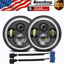 DOT 7 inch LED Headlights Round for Jeep Wrangler JK TJ LJ CJ Chevrolet Ford GMC