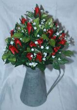 Flores secas y artificiales decorativas ramos color principal rojo para el hogar