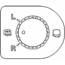 Schalter Spiegelverstellung - Topran 109 774