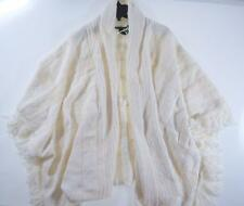 Ralph Lauren Poncho Sweater Open Front Cape Women's Plus One Size Blanket Cream