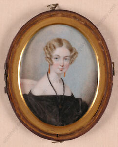 """""""Portrait of a Young Lady"""", English miniature, 1st half of 19th century"""