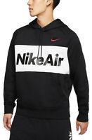 NIKE Air Fleece Pullover Hoodie sz M Medium Black White Max Sportswear