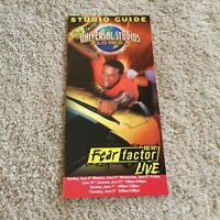 Vintage Universal Studios Florida Park Brochure from 2005 Fear Factor Live Mint