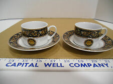 T. Bavaria Germany Demitasse or Espresso Cup and Saucer 4 Piece Set - Euc
