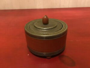 Vintage Silver Toned Metal Lidded Musical Powder Box