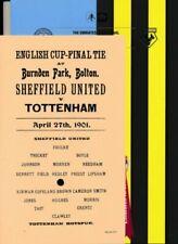 Away Teams Manchester City Final Football FA Cup Fixture Programmes