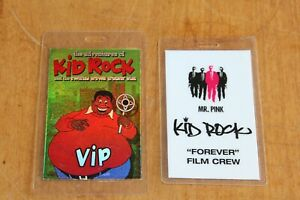 Kid Rock  - 2 x Laminated Backstage Pass  -  Lot # 9  - FREE POSTAGE -