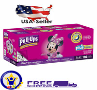 Huggies Pull Ups Training Pants For Girls Size 3T - 4T 116 Total