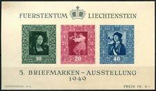 Liechtenstein 1949 SG#MS279a Philatelic Exhibition Vaduz MNH M/S Cat £180#D70650