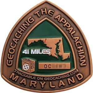 Appalachian Trail 2008 Geocoin - Maryland, Activated