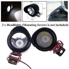 2x Motorcycle Bke Front Headlight Fog Spot Light Lamp12-80V 3W LED&Mounting Hole