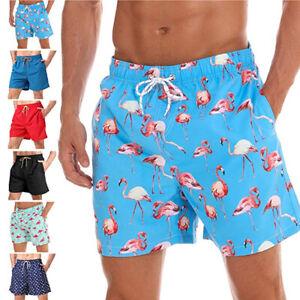 Men's Swimwear Bathing Suit Swim Trunks Lining Quick Dry Beach Shorts Pockets