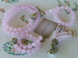 """Heidi Daus """"Endless Possibilities"""" Magnetic Necklace And Bracelet Set Rose"""