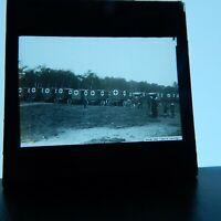 Contingent of red cross ambulances WW1 magic lantern glass slide