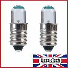2 x 6V Orange LED Lamp Bulb 30° MES E10 Screw Base