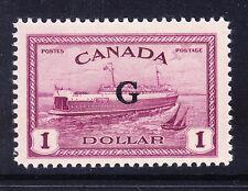 """Canada GIORGIO VI 1950 SGO189 $1 Viola OPT """"G"""" - unmounted Nuovo di zecca. catalogo £ 80"""