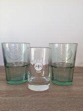 3 Bacardi Tumbler Glasses -2 Green Hi Ball & 1 Clear Bacardi Rum