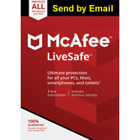 Mcafee LiveSafe 2020 Unlimited Devices 1 Year Key 2019