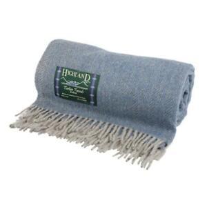 Highland Tweeds Herringbone Wool Blend Blanket Travel Rug