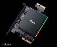 Akasa AK-PCCM2P-04 Dual M.2 PCIe SSD Adaptor Card with RGB LED and Heatsink