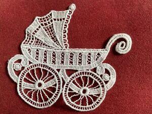 Pram sew-on lace motif, appliqué, patch, baby, child