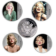 4pcs Marilyn Monroe 999.9 Silver Plated Metal Coin World Coin Challenge Gifts