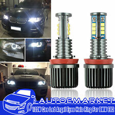 2 X 240W Total White BMW H8 LED Angel Eyes Ring Marker Bulbs For 1 3 5 X Series