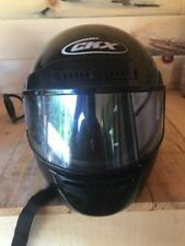 Motorcycle Half Helmet Face Guard Glossy Black Med CKX DOT VG- 800