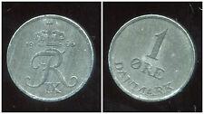 DANEMARK  1 ore 1966  zinc