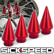 4 PC RED SPIKES FOR SICKSPEED POLARIS SLINGSHOT TUNER LUG NUTS