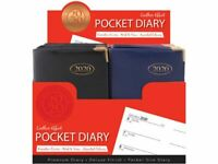 2020 A7 Week to View WTV Small Pocket Diary Gilt Edge Metal Corners Organiser