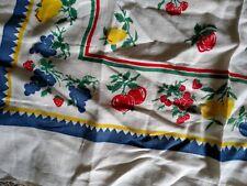 Vintage Tablecloth Fruit