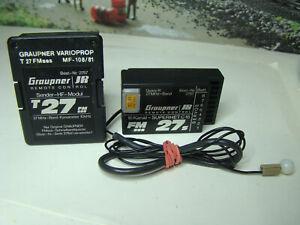 Graupner 27 MHz HF-Modul für MC-24 / 6014 + Empfänger C16 + Quarzpaar - TOP