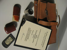 Original Antike Zugführer/Schaffner Pfeife, im Set mit Original Gepäckanhänger